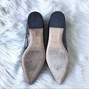 M. Gemi Shoes - M.Gemi Fortuna Patent Leather Point Toe Flat Black